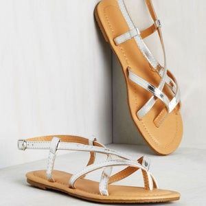 ModCloth Shoot for the Dune Sandal in Silver